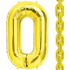 "Baloane Folie Aurii in forma de za, 86 cm / 34"", Northstar Balloons 00833, 1 buc"