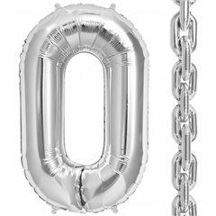"Balon Folie Argintiu in forma de za, 86 cm / 34"", Northstar Balloons 00832, 1 buc"
