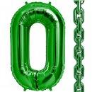"Balon Folie Verde in forma de za, 86 cm / 34"", Northstar Balloons 00464, 1 buc"