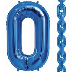 "Balon Folie Albastru in forma de za, 86 cm / 34"", Northstar Balloons 00831, 1 buc"