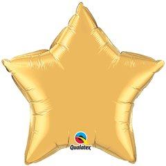 Balon mini folie auriu metalizat cu forma de stea - 10 cm, Qualatex 35983, 1 buc