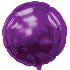 Balon folie purple metalizat rotund - 45 cm, Northstar Balloons 00732, 1 buc