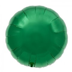 Balon folie emerald green metalizat rotund - 45 cm, Northstar Balloons 00742, 1 buc