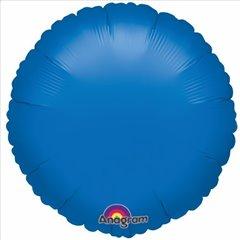 Balon Folie 45 cm Uni Rotund Albastru metalizat, Amscan 19887, 1 buc