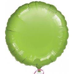 Balon folie lime green metalizat rotund - 45 cm, Amscan 21631-40, 1 buc