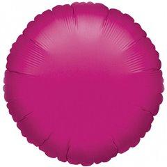 Balon folie fucsia metalizat rotund - 45 cm, Amscan 21610-40, 1 buc