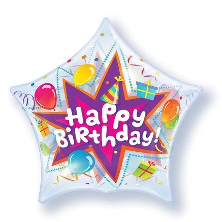 "Balon Bubble 22""/56cm Qualatex, Birthday Party Blast, 36765"