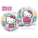 "Balon Bubble 22""/56cm Qualatex, Hello Kitty Birthday, 12865"