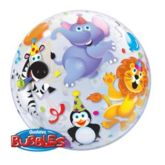 """Balon Bubble 22""""/56cm Qualatex, Party Animals, 13737"""