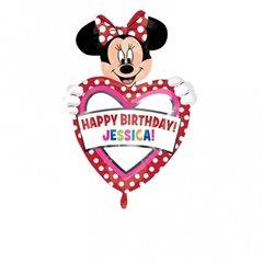 Folie figurina Minnie Mouse cu personalizare - 60x83 cm, Amscan 26363