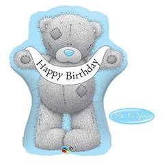 "Balon Folie Figurina ""Happy Birthday"" Me to You - 92 cm, Qualatex 20817"