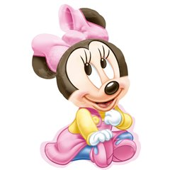 Balon folie figurina Minnie Mouse Baby Girl - 51 x 84 cm, Amscan 2309001