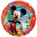 Balon Folie 45 cm Happy Birthday cu Mickey Mouse, Amscan 14055
