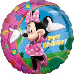 Balon Folie 45 cm Minnie Mouse Happy Birthday, Amscan 17797