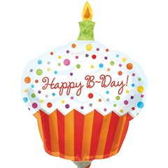 "Balon Folie Mini-Figurina Happy Birthday Cupcake -  9""/23cm, Amscan 1608002"