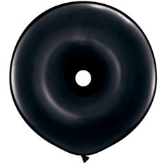 "Baloane figurine latex GEO Donut 16"", Onyx Black, Qualatex 38342, set 50 buc"