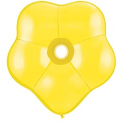 "Balon latex floare, GEO Blossom 6"", Citrine Yellow, Qualatex 43610, Set 100 buc"