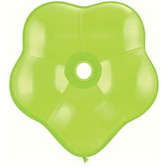 "Balon latex floare, GEO Blossom 6"", Lime Green, Qualatex 87165"