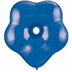 "Balon latex floare, GEO Blossom 6"", Sapphire Blue, Qualatex 43631, Set 100 buc"