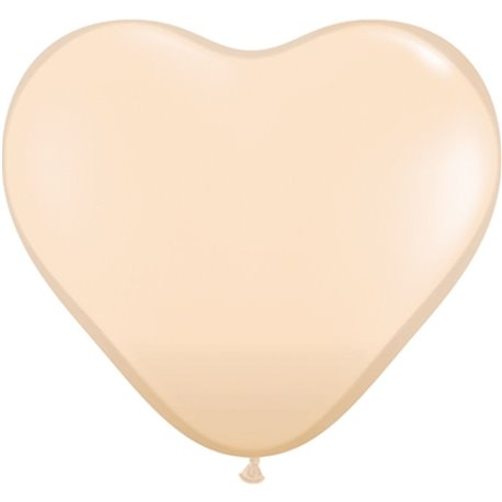 "Baloane latex in forma de inima, Blush, 6"", Qualatex 92526, Set 100 buc"