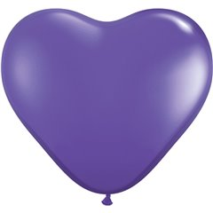 "Baloane latex in forma de inima, Purple Violet, 6"", Qualatex 13791, Set 100 buc"