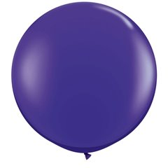 Baloane latex Jumbo 3' Quartz Purple, Qualatex 42875, set 2 buc