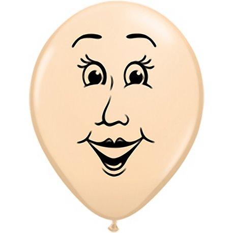 "Baloane latex 5"" inscriptionate Woman's Face Blush, Qualatex 99310, set 100 buc"
