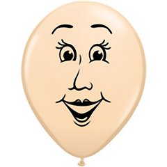 "Baloane latex 16"" inscriptionate Woman's face Blush, Qualatex 99311, set 50 buc"