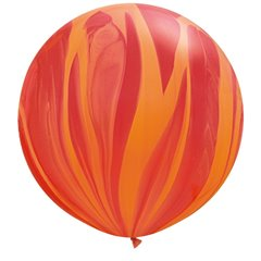 "Baloane latex Jumbo 30"" Red Orange Rainbow SuperAgate, Qualatex 63759, set 2 buc"