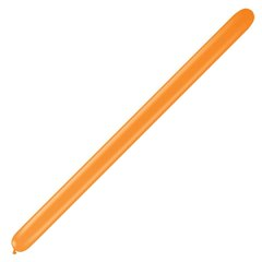 "Baloane Latex Modelaj Orange, 1"" x 60"", Qualatex 160 88349, set 100 buc"