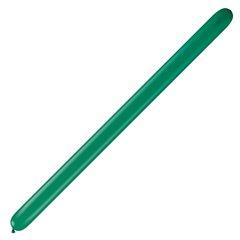 "Baloane Latex Modelaj Emerald Green, 1"" x 60"", Qualatex 160Q 43909, set 100 buc"