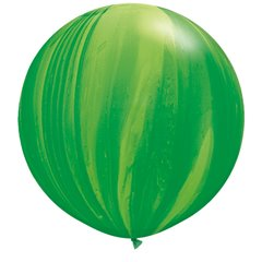 Balon Latex Superagate 30 inch (75 cm), Green Rainbow, Qualatex 63757, set 2 buc
