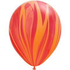 Balon Latex SuperAgate 11 inch (28 cm), Red Orange, Qualatex 91540