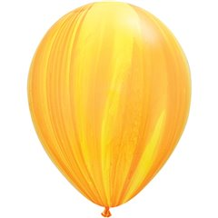 Balon Latex SuperAgate 11 inch (28 cm), Yellow Orange, Qualatex 91541