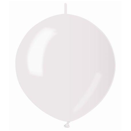 Baloane latex Cony sidefate 33 cm, Alb 29, Gemar GLM13.29, set 100 buc