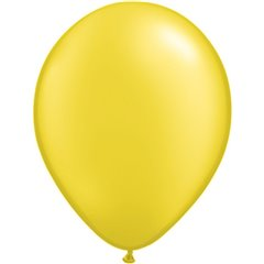 Balon Latex Pearl Citrine Yellow 11 inch (28 cm), Qualatex 43771, set 100 buc
