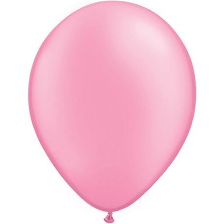 Balon Latex Neon Pink 11 inch (28 cm), Qualatex 74573, set 100 buc
