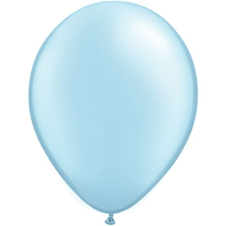 Balon Latex Pearl Light Blue 11 inch (28 cm), Qualatex 43777, set 100 buc