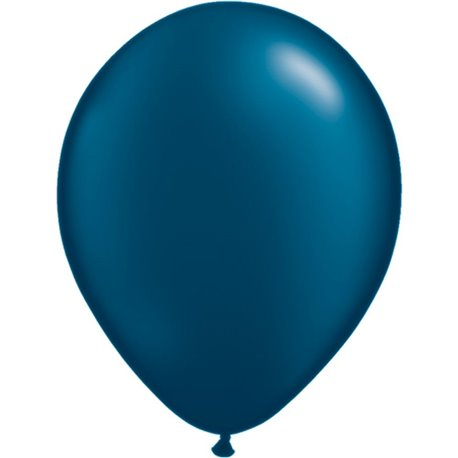 Balon Latex Pearl Midnight Blue 5 inch (13 cm), Qualatex 43589, set 100 buc