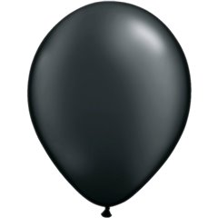 Balon Latex Pearl Onyx Black 5 inch (13 cm), Qualatex 43579, set 100 buc
