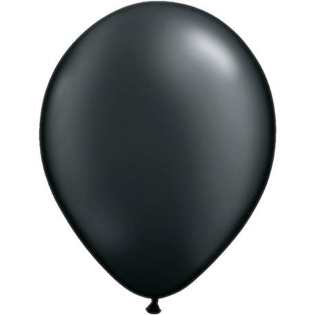 Balon Latex Pearl Onyx Black 5 inch (13 cm), Qualatex 43579, set 100 buc