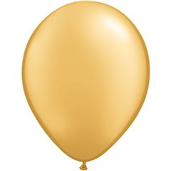 Balon Latex Gold 9 inch (23 cm), Qualatex 43686, set 100 buc
