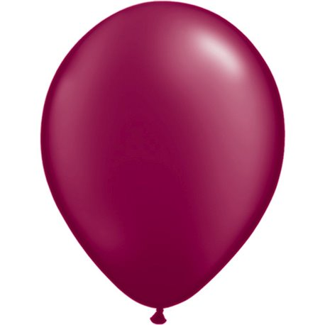 Balon Latex Pearl Burgundy 11 inch (28 cm), Qualatex 43769, set 100 buc