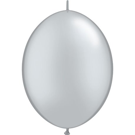 Balon Cony Silver 12 inch (30 cm), Qualatex 65243, set 50 buc