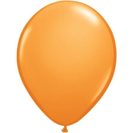 Balon Latex Orange, 9 inch (23 cm), Qualatex 43696, set 100 buc