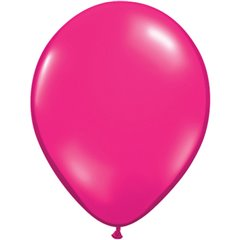 Balon Latex Jewel Magenta, 11 inch (28 cm), Qualatex 99323, set 100 buc