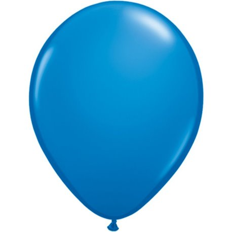 Balon Latex Dark Blue, 9 inch (23 cm), Qualatex 43680, set 100 buc
