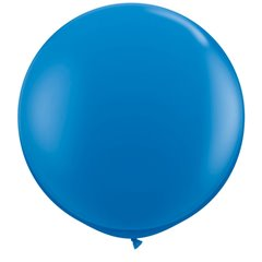 Baloane latex Jumbo 3' Dark Blue, Qualatex 41996, set 2 buc