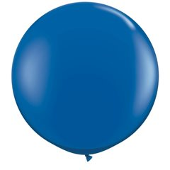 Baloane latex Jumbo 3' Sapphire Blue, Qualatex 42876, set 2 buc