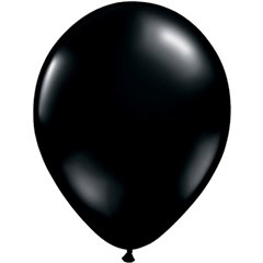 Balon Latex Onyx Black, 5 inch (13 cm), Qualatex 43548, set 100 buc